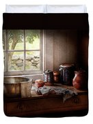 Sink - The Morning Chores Duvet Cover by Mike Savad