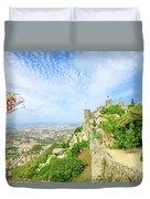 Sintra Castle Aerial Duvet Cover