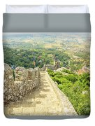 Sintra Moorish Castle Wall Duvet Cover
