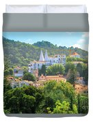 Sintra National Palace Aerial Duvet Cover