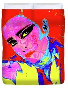 Siouxsie With Dragon Tattoo Duvet Cover