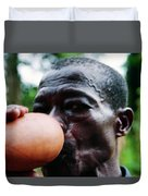 Sipping Palm Wine Duvet Cover