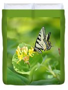 Sipping Swallowtail Duvet Cover