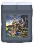 Sir Philip Sidney At The Battle Of Zutphen Duvet Cover
