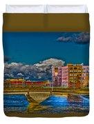 Sister Cities Pedestrian Bridge Duvet Cover