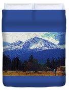 Sisters Oregon Ranch Duvet Cover