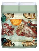 Sistine Chapel Ceiling Creation Of The Sun And Moon Duvet Cover