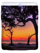 Sit With Me Driftwood Beach Sunrise Jekyll Island Georgia Duvet Cover