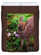 Sitka Black-tailed Fawn Duvet Cover