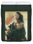 Sitted Woman Duvet Cover