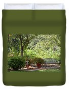 Sitting Along The Path Duvet Cover