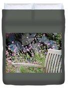 Sitting Amongst A Wildflower Garden Duvet Cover