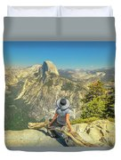 sitting at Glacier Point Duvet Cover
