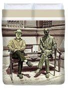 Sitting Next To A Statue Of Jan Karski Legendary Polish Underground Courier    Duvet Cover