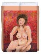 Sitting Nude Duvet Cover
