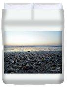 Sitting On The Beach Duvet Cover