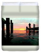 Sitting On The Dock Of The Bay Duvet Cover