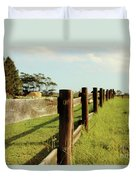 Sitting On The Fence Duvet Cover