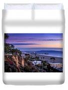 Sitting On The Fence - Santa Monica Pier Duvet Cover