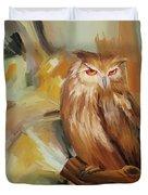 Sitting Owl Duvet Cover