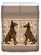 Sitting Proud Dogs And Ancient Egypt Duvet Cover