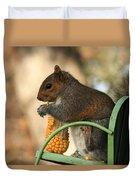 Sitting Squirrel Duvet Cover