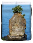 Siwash Rock By Stanley Park Duvet Cover