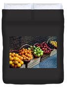 Six Baskets Of Assorted Fresh Fruit Duvet Cover