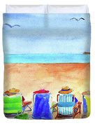 Six Beach Amigos Duvet Cover