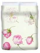 Six Heads Of Old Fashioned Roses Duvet Cover