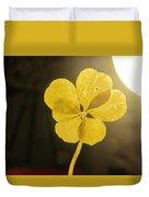 Six Leaf Clover In Studio 2 Duvet Cover