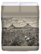 Six-shooter Peaks Duvet Cover by Lou  Novick