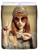 Sixties Retro Fashion Duvet Cover