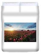 Skagit Sunset Field Duvet Cover
