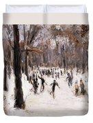 Skaters In The Tiergarten, Berlin Duvet Cover