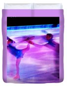 Skating Couple Abstract 2 Duvet Cover