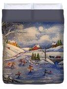 Winter Fun  Part 2  Duvet Cover