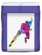 Skating Man-colorful Duvet Cover