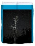 Skeletal Tree Starscape Duvet Cover