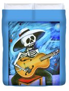 Skeleton Guitar Day Of The Dead  Duvet Cover