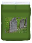 Skeleton Tombstone 1600s Duvet Cover