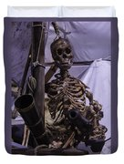 Skeleton With Bow Canon Duvet Cover