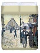 Sketch For Paris A Rainy Day Duvet Cover