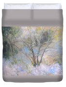 Sketch Of Halation Effect Through Trees Duvet Cover