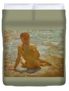 Sketch Of Nude Youth Study For Morning Spelendour Duvet Cover