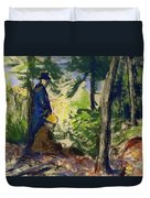 Sketchers In The Woods Duvet Cover