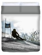 Ski Racer Backlit Duvet Cover