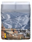 Ski Resort And Downtown Steamboat Duvet Cover