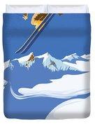 Sky Skier Duvet Cover
