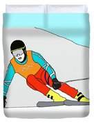 Skier Duvet Cover